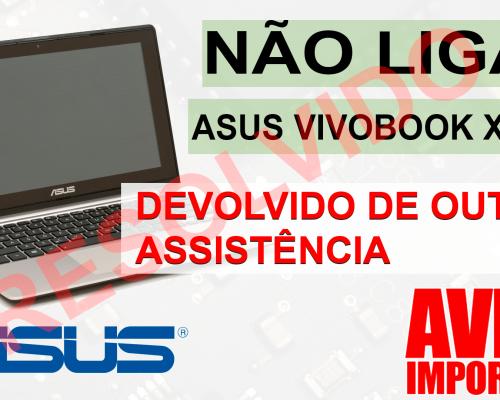 notebook asus vivobook x202e não liga